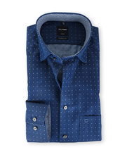 Olymp Modern Fit Shirt Marineblauw