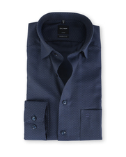 Olymp Modern Fit Shirt Navy Pinpoint