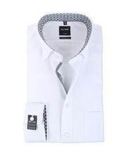 Olymp Modern Fit Shirt SL7 Wit Herringbone