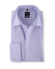 OLYMP Overhemd Dubbele Manchet Blauw