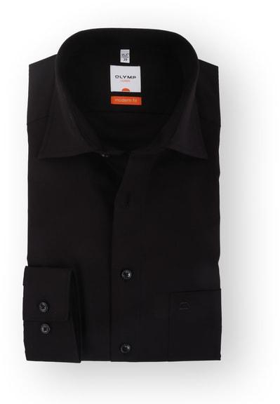 Olymp Overhemd Zwart Modern Fit