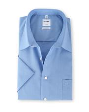OLYMP Luxor Shirt Comfort Fit Korte Mouw Blauw
