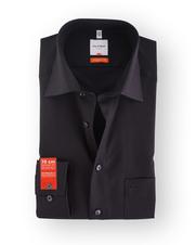 Olymp Shirt SL7 Modern Fit Zwart