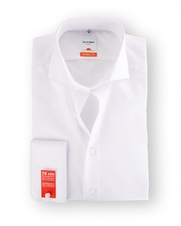 Olymp SL7 Dubbelmanchet Shirt Wit