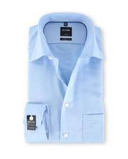 Olymp SL7 Modern Fit Shirt Blauw Dessin