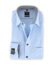 Olymp SL7 Modern Fit Shirt Blauw