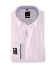 Olymp SL7 Overhemd Wit Button Under