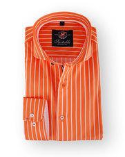 Oranje Streep Overhemd Suitable