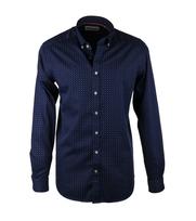 Overhemd Print Donkerblauw