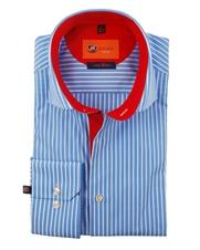 Overhemd SL7 Blue Stripe White
