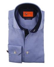 Overhemd Sl7 Mid Blue Dessin