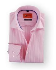 Overhemd Sl7 Pink White Stripe
