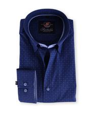 Overhemd Slim Fit Blauw Print 121-3