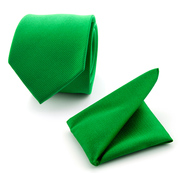 Pochet Stropdas Set Smaragd Groen F68