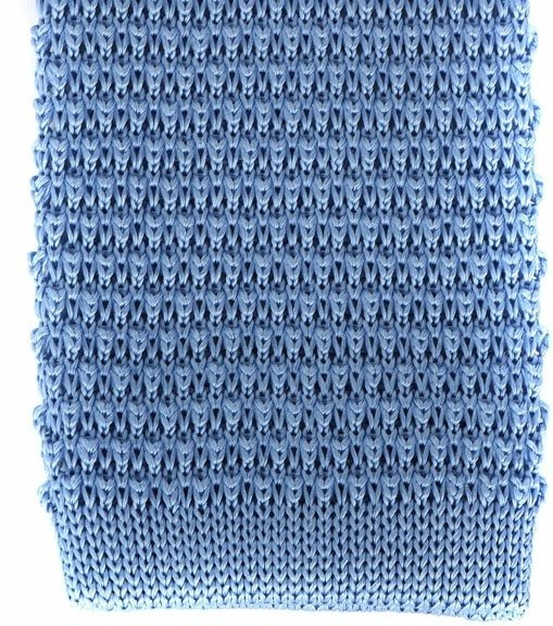 Profuomo Knitted Tie Wool Blue
