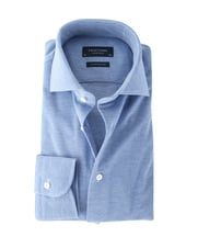 Detail Profuomo Knitted Shirt Blue