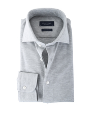 Detail Profuomo Knitted Shirt Grey