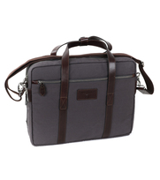 Profuomo Laptop Bag Canvas Grey