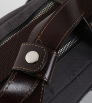 Detail Profuomo Laptoptas Canvas Grijs