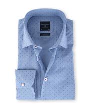 Profuomo Overhemd Blue Checks Slim Fit