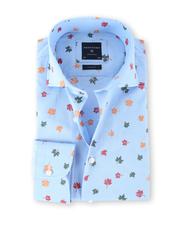 Profuomo Overhemd Herfstblad Blauw