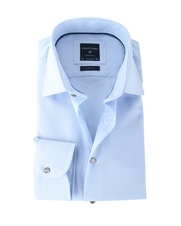 Detail Profuomo Shirt Blauw Dessin