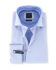 Profuomo Shirt Blauw Print SL7