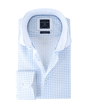 Profuomo Shirt Blauw Print