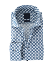 Profuomo Shirt Print Blauw