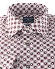 Detail Profuomo Shirt Print Bruin