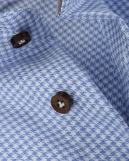 Detail Profuomo Shirt Slim Fit Blauw Ruit