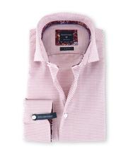 Profuomo Shirt Strijkvrij Print Rood SL7