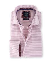 Profuomo Shirt Strijkvrij Print Rood