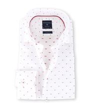 Profuomo Shirt Strijkvrij Print Wit