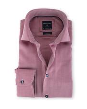 Profuomo Shirt Strijkvrij Rood Print