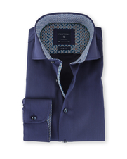 Profuomo Shirt Strijkvrij Slim Fit Navy