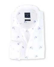 Profuomo Shirt Wit Pinguin Slim Fit