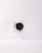 Detail Profuomo Smokingoverhemd Plisse Slim Fit Wit