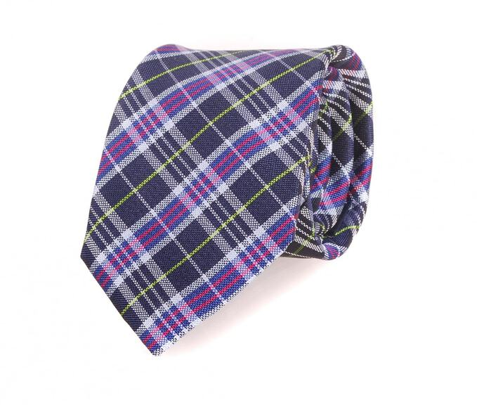 Profuomo Tie Purple Checks 066B