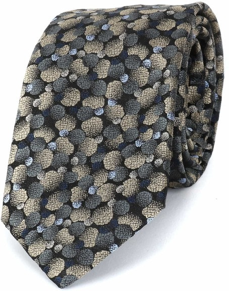 Profuomo Tie Silk Dot Gold