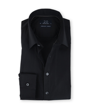 Profuomo Super Slim Fit Overhemd Zwart