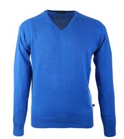 Pullover Katoen V-Hals Blue