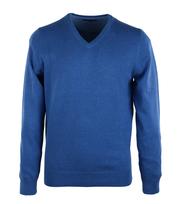 Pullover V-Hals Blauw