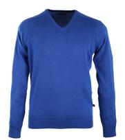 Pullover V-Hals Royal Blauw