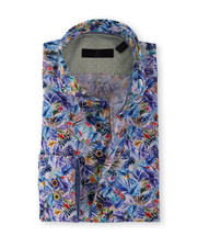 R2 Shirt Blue Flower