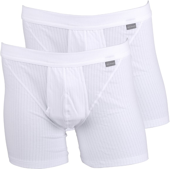 Schiesser Boxer Shorts White Authentic 2-Pack