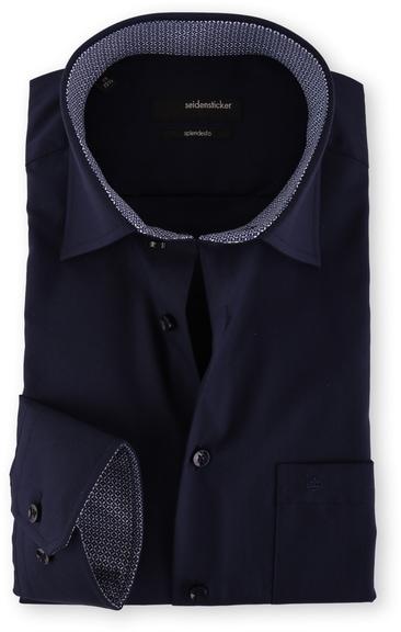 Seidensticker Overhemd Donkerblauw