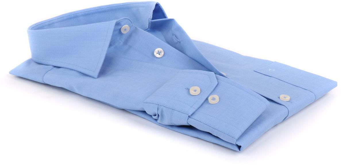 Detail Seidensticker Splendesto Overhemd Blauw