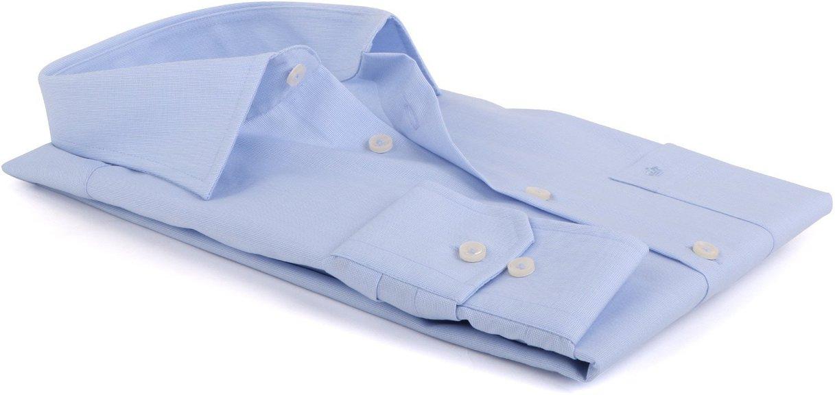 Detail Seidensticker Splendesto Overhemd Lichtblauw