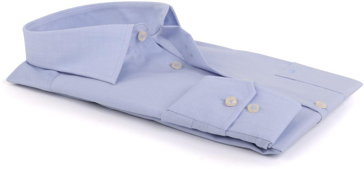 Detail Seidensticker Strijkvrij Overhemd Lichtblauw